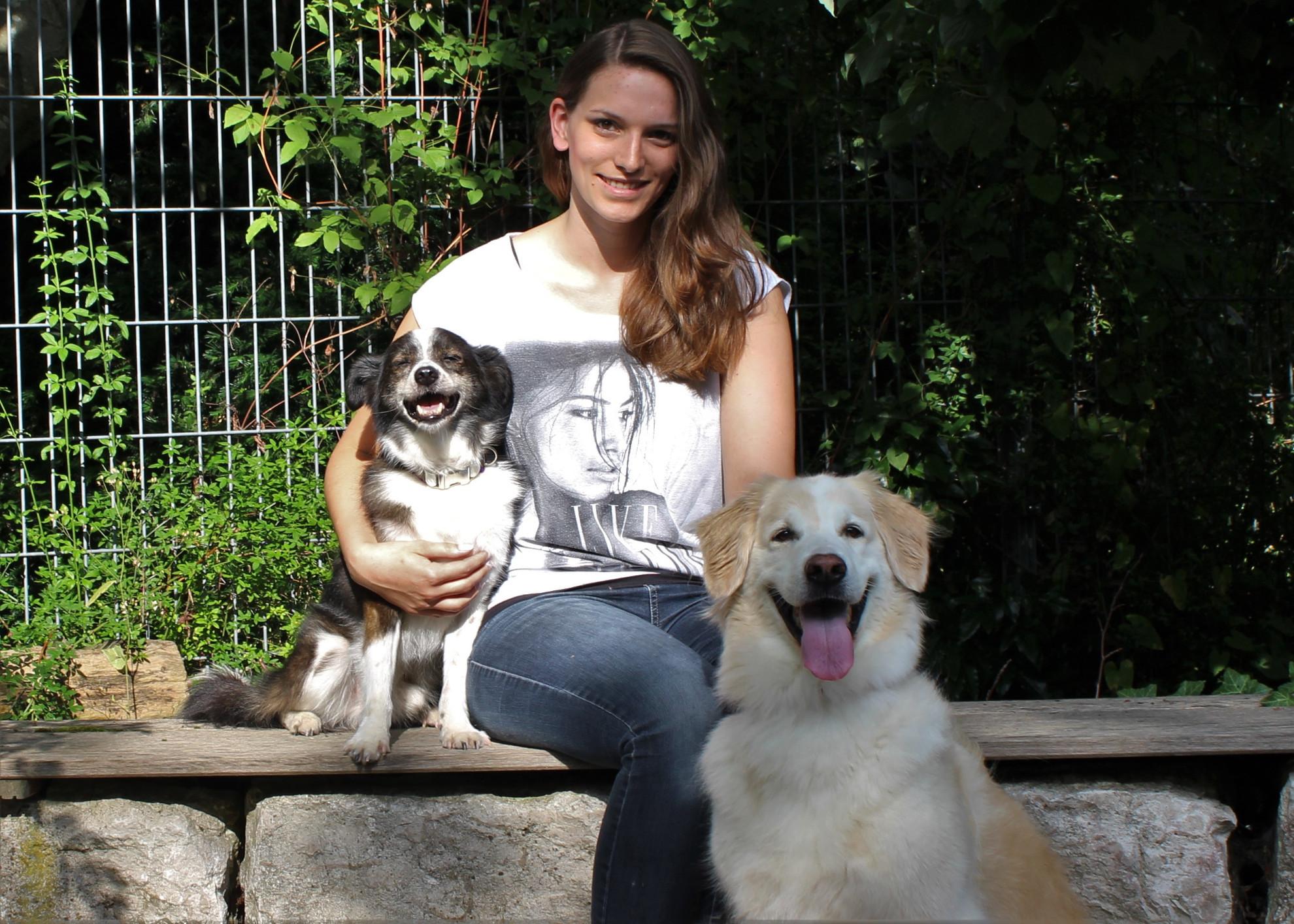 Jennifer Brombacher mit Loki und Apollo